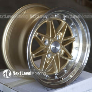 Circuit Cp24 15x8 4 100 25 Gold Wheels Fits Acura Integra Dc2 Equip 03 Style