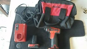 Snap On Cts761 14 4v Cordless Screwdriver Drill Set 2 Batteries Charger