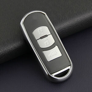 For Mazda Toyota Silver Tpu Remote Smart Key Case Soft Shell Protector Cover