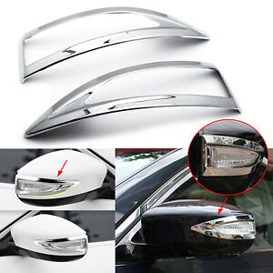 For Nissan Altima 2013 2017 2018 Chrome Rearview Side Mirror Cover Stripe Trim
