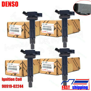 4x Denso 90919 02244 Ignition Coils Fit Toyota Camry Highlander Rav4 Lexus Scion