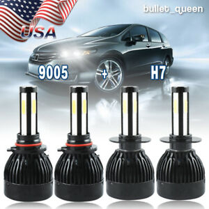 For Mazda Cx 7 2007 2010 2011 2012 9005 H7 Led Headlight Combo White 4 Bulbs Kit