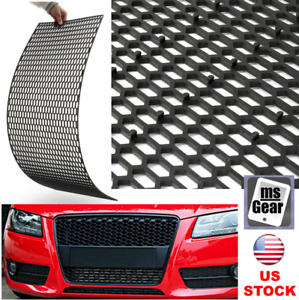 Universal Black Honeycomb Abs Plastic Vent Car Tuning Racing Grille Mesh Bumper