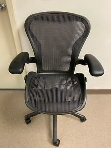 Herman Miller Aeron Fully Adjustable Size A Small Aeron Office Chair 3d01 Blk