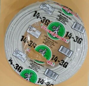 14 3 Romex 250 14 3 Awg Gauge Nm b Indoor Copper Electrical Wire Roll Cable