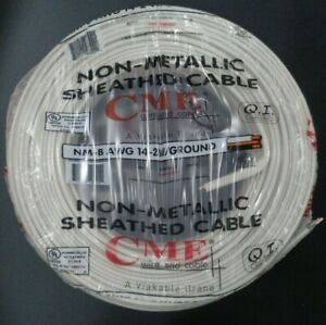 14 2 Romex Indoor Electrical Copper Wire Cable W Ground 14 2 Awg Guage Nm b 250