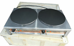Commercial Double Electric Crepe Maker Pancake Pan Griddle Machine 220v Cook