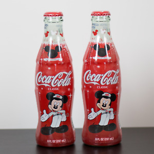 2 New Coca Cola Bottles Limited Edition Mickey Mouse 75 Years Rare VTG Vintage