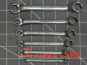 Snap On 6pc Short Double Box Wrench Set 3 16 7 32 3 8 7 16 1 2 5 8 Xs Xs67s 6pt