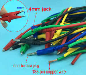 14awg Silicone Banana Plug Crocodile Alligator Clip Test Probe Lead Wire Cable