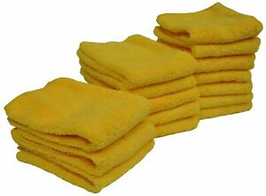 Eurow Microfiber 14in X 17in 300 Gsm Cleaning Towels High Pile 15 Pack