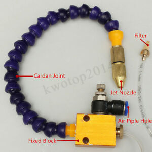 Mist Coolant Lubrication System For Cnc Lathe Mill Drill Machine 8mm Air Pipe b