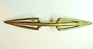 Vintage Double Arrow Spear Retro 7 1 4 Pull Handle Shiny Brass Drawer Holes 5