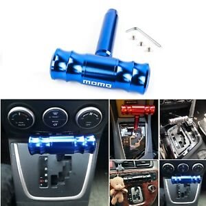Momo Blue Car Shift Knob Aircraft Joystick Transmission Racing Gear Shifter