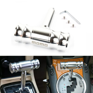 Momo Silver Car Shift Knob Aircraft Joystick Transmission Racing Gear Shifter