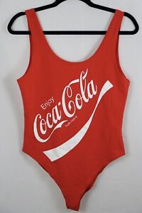 NWOT Coca Cola Womens Bodysuit Size Large Red Sexy Tank Top