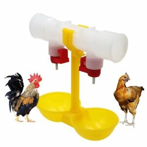 Chicken Drinker Cup Double Hanging Water Bowls Feeder For Poultry Farming 40pcs