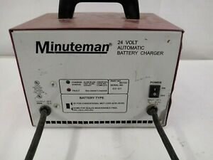 Battery Charger 957722 Minuteman Scrubber Sweeper 24v 12amp Small Red Plug