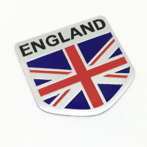 England Badge Metal Sticker Decal For Vauxhall Lotus Land Rover Jaguar Bentley