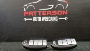 2011 Infiniti G37 Pair Of Keyless Entry Remote Smart Key Fobs