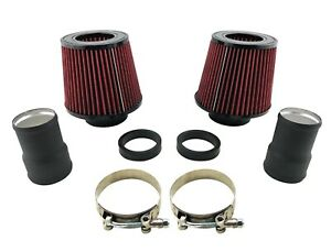 N54 Dual Cone Filter Air Intake Kit For Bmw 135i 335i 535i Z4 30l Twin Turbo I6
