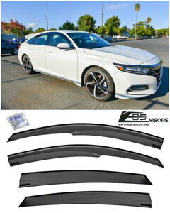Eos Visors For 18 up Honda Accord Jdm Mugen Style Side Window Vents Rain Guards