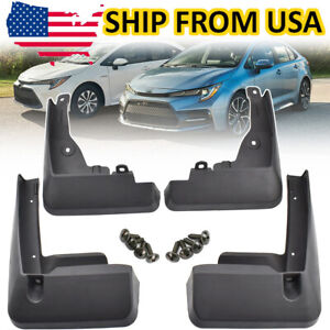 4pcs For Toyota Corolla E210 Sedan 2020 Front Rear Mud Flaps Splash Guards