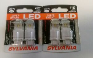 Sylvania Zevo Led Light Bulb White 6000k 4157 4057 3057 4 Bulbs
