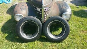 Original Polyglas Goodyear Tires Double White J78 14 Mopar Ford Impala Olds 440