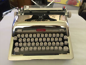 Antique 1950s Nickel Manual Portable Typewriter