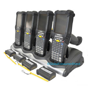 Lot Of 4x Motorola Mc9190 ga0sweya6wr Mc9190g Ce 6 0 1d Barcode Scanner cradle