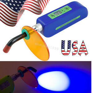 Usa Dental Wireless Cordless Led Curing Light Lamp Cure 2000mw Dentist Blue
