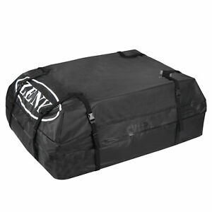 Car Suv Black Roof Top Cargo Carrier Bag Luggage Storage Travel Waterproof