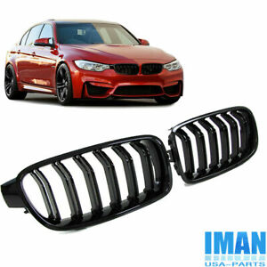 Gloss Black M3 Style Kidney Grille Grill For Bmw 3 Series F30 320i 335i 2012 18