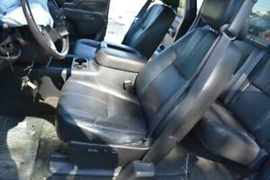 2007 2013 Silverado Sierra Oem Black Leather Seats Front Rear Extended Cab An3