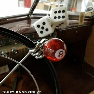 Translucent Red 8 Ball Custom Billiard Shift Knob W Metal Flake Hot Rod F