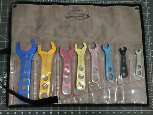 Blue Point By Snap On 8pc Aluminum An Fitting Open End Wrench Set 3 20 Anw708