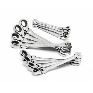 Flex Head Ratcheting Combination Metric Wrench Set 12 Pc 12 Point