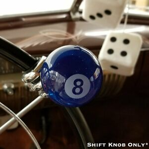 Blue Translucent 8 Ball Custom Billiard Shift Knob W Metal Flake Gear Shifter