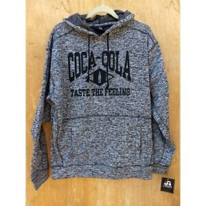 NWT coca cola heathered grey hoodie pullover sweater men's large