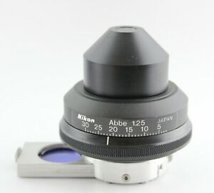 Nikon Microscope 1 25 Phase Contrast Ncb Blue Filter Condenser Ph3 Alphaphot 2