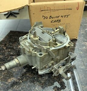 1970 Buick Skylark Gs 455 Carburetor 7040240 Md