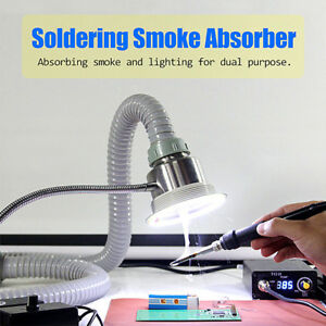 2 In 1 Soldering Smoke Absorber Remover Fume Extractor Air Fan Strong Suction
