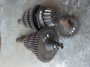 Farmall Super H Sh Tractor Ih Transmission Matched Set Upper Lower Gears Shaft