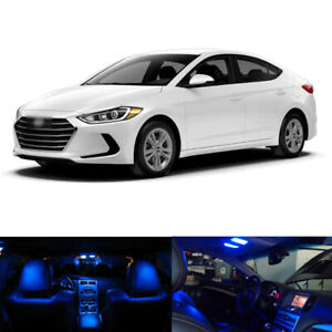 8 X Blue Led Interior Package Tag Light For 2017 2018 2019 2020 Hyundai Elantra