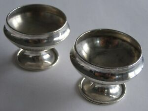 Vintage Whiting Sterling Silver Pair Of Salt Cellars Without Liners