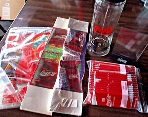 Lot of 6 COCA COLA Restaurant FACTORY SEALED 1 DISPLAY 2 TABLE TENTS + 3 Items