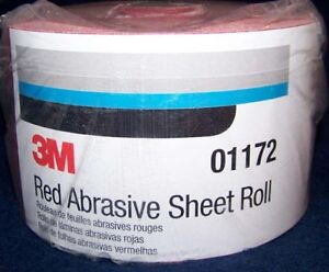 3m Red 1687 Stick It Adhesive Back Continuous Sheet Roll Sandpaper 120 Grit