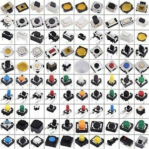 Assorted Key Push Button Micro Switch Touch Kit For Car Pc Tablet 500pcs