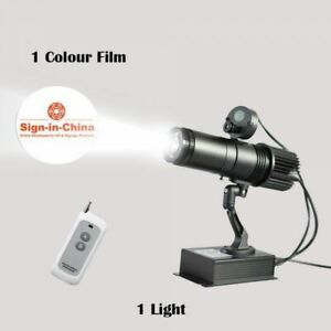 20w Indoor Remote Control Led Gobo Projector Advertising Logo Light 1 Color